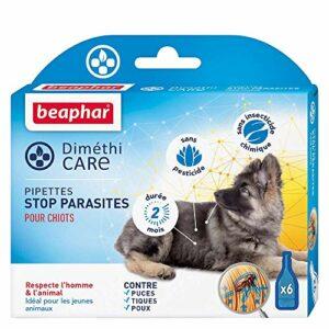 Beaphar Diméthicare, Pipettes Stop Parasites pour Chiots – 6 Pipettes pour Chien