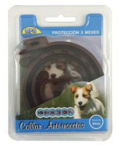 BPS® BPS-4000 Collier anti-parasitaire pour chiens et chats anti-puces et tiques Protection 3 mois (pour chien 60 cm)
