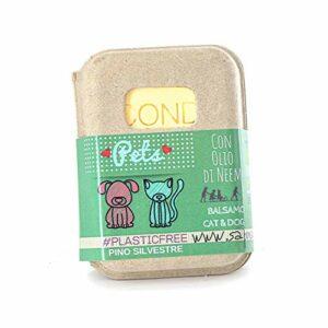 Officina Cosmetica ANTICHI RICORDI Après-shampoing solide pour chiens et chats – avec huile de néoprène, idéal pour le lavage des chiens et chats – agit également comme antiparasitaire.