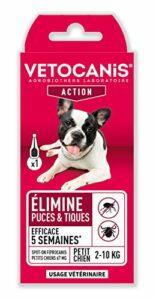 Vétocanis – Fiprocanis Pipette Anti-Puces Anti-Tiques Chien – Traitement et Protection contre Infestations – Antiparasitaire Petit Chien 2-10 kg