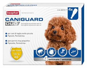 Beaphar Caniguard Duo Anti-parasitaire Chien XS 1,5-4 kg 4 Pipettes Spot-on