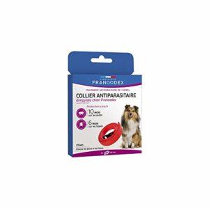 Francodex – Francodex Collier anti-parasitaire chien – Rouge